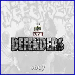 Marvel The Defenders Trading Cards Hobby 12-box Case (upper Deck 2018)