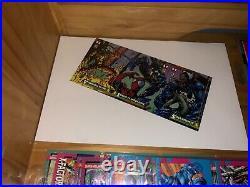 Marvel Trading Card Lot Poster Rare Uncut Hologram Holographic X-Men DC Comics