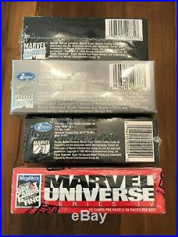 Marvel Universe Series I II III IV 1 2 3 4 Impel SkyBox 4 Complete Boxes Sealed