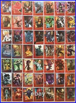 Marvel Women of Marvel Series 2 Limited Ruby Parallel Card Set 90 Cards