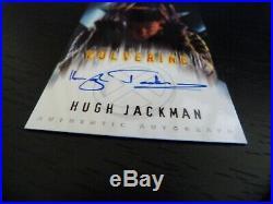 Marvel X-Men Hugh Jackman Wolverine authentic autograph costume & profile cards