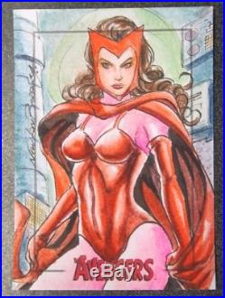 Marvel's The Avengers Silver age hand drawn sketch card artist NEWTON BARBOSA