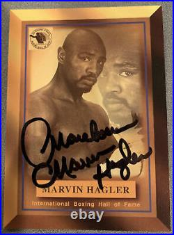 Marvelous Marvin Hagler Signed & Autographed IBF Boxing HOF Card #15 Flawless