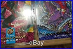 Mega Set 1994 and 1995 Marvel Fleer Ultra Xmen cards with 1995 Wolverine Binder