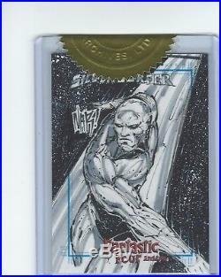NAR! Silver Surfer Fantastic Four Case Incentive Sketch Card Marvel Rittenhouse