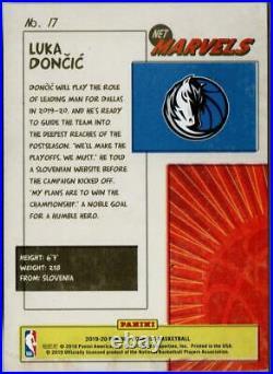 NBA Card 2019-20 Luka Doncic PANNI Donruss Net Marvels #17 Dallas Mavericks