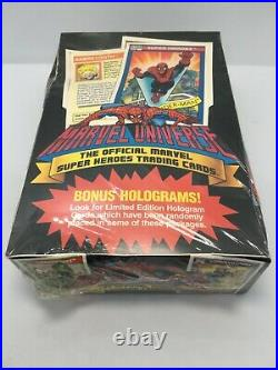 New 1990 Marvel Universe Trading Card Box Factory Sealed Bonus Holograms 36 Pks