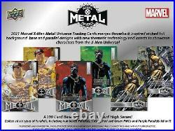 Pre-Order 2021 Marvel X-Men Metal Universe Trading Cards Box Upper Deck