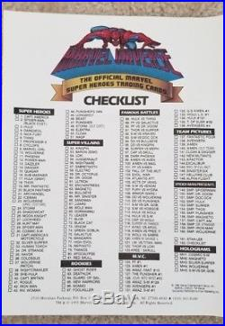 RARE 1990 MARVEL UNIVERSE SERIES 1 COMPLETE SET in COLLECTORS ALBUM