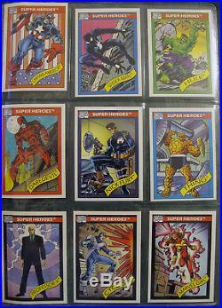 RARE 1990 Marvel Universe Premier Edition Collector's Album with Factory Set