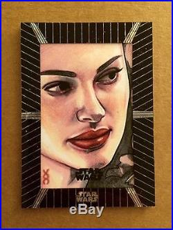 RARE Disney Marvel Star Wars High Tek Amidala Padme Veronica O'Connell Sketch
