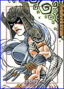 RARE Marvel Dangerous Divas Sketch Card by Larry Slickaway Spiral X-men
