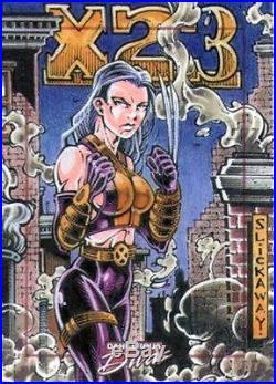 RARE Marvel Dangerous Divas Sketch Card by Larry Slickaway X-23 Wolverine X-men