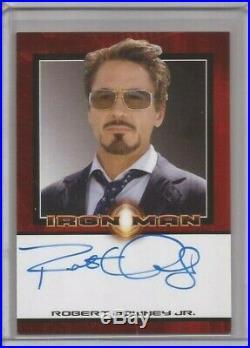 ROBERT DOWNEY Jr IRON MAN Autograph Card TONY STARK AUTO Rittenhouse 2008 MARVEL