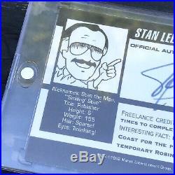 Rare'92 Stan Lee Marvel Official Autograph Card Marvel Entertainment Group