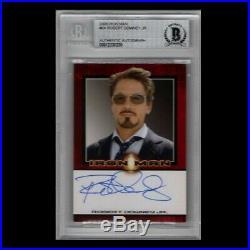 Rittenhouse Marvel Iron Man Robert Downey Jr Stark AUTOGRAPH SIGNED card Beckett