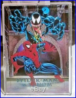 SPIDER-MAN VS. VENOM 4-D MARVEL MASTERPIECES 1992 Etch Rare Vintage Card