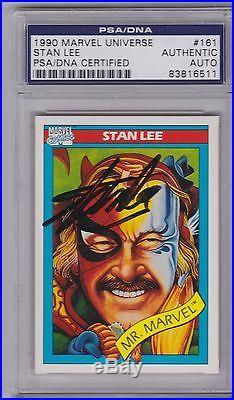 STAN LEE 1990 Marvel Impel Universe PSA/DNA Autograph #161