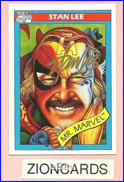 STAN LEE On Card Auto Autograph Signed 1990 MARVEL COMICS CARD -MR MARVEL