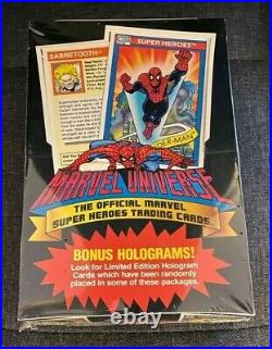 Sealed1990 Marvel Universe Series I Trading Card Box 36 Packs 12 Cards Pack