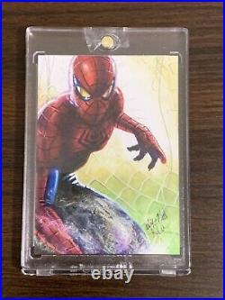 Spider Man 2020 Ud Marvel Masterpieces Sketch By Mick Matt Glebe