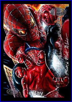 Spider-Man Mick and Matt Glebe Marvel Premier 2012 AP sketch card