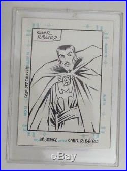Stan Lee Autograph Marvel The Silver Age Card A1 Skybox 1998 Mint Bonus Art Card