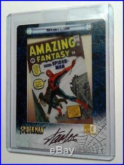 Stan Lee Autographed Signed Autograph Card Marvel 341/500 Spider-Man Authentic