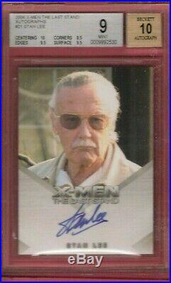 Stan Lee CERTIFIED AUTHENTIC AUTOGRAPH CARD BGS 10 AUTO MARVEL X-MEN AVENGERS