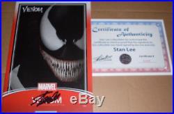 Stan Lee SIGNED Venom 155 withCOA Marvel JTC Trading Card Variant Spider-Man movie