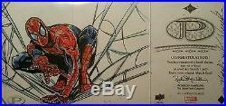 Stan Lee Signed 2014 UD Marvel Premier AUTO Spiderman Sketch Card 3 Panel JSABGS