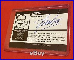Stan Lee Signed Autographed 1992 Marvel Comics Business Profile Trading Card