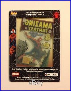 Stan Lee signed 2002 Amazing Fantasy 15 Film card autograph Marvel comics auto