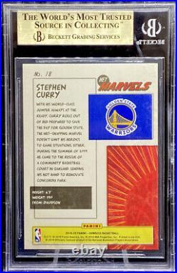 Stephen Curry 2019-20 Panini Donruss Net Marvels #18 GEM MINT BGS 9.5 POP 10