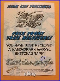 Thor 1998 Marvel/Skybox The Silver Age Sketchagraph George Tuska