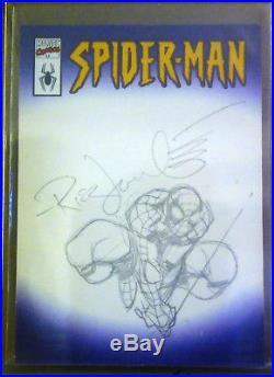 Topps Marvel Legends Spider-Man Sketch Card (Artist Rick Leonardi) One of a kind