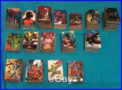 Trading Cards Lot Comics Marvel DC Spider-Man X-Men Superman Batman Hulk Fleer