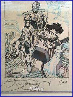 UD Deathlok Marvel Masterpieces Preliminary Sketch Original Art Simone Bianchi