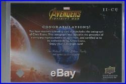UD Marvel AvengersInfinity War CHRIS EVANS as CAPTAIN AMERICA Autograph Auto SP