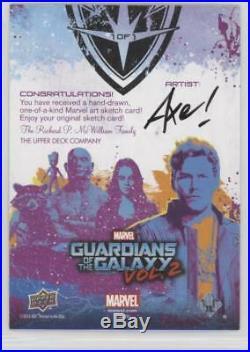 UD Marvel Guardians Of The Galaxy Vol. 2 Mystique Sketch card by AXEBONE 1/1