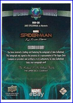UD Marvel Spider-Man Far From Home Jake Gyllenhaal as Mysterio Autograph MM-QB