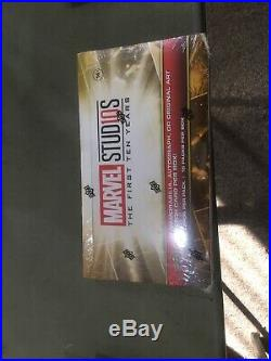 UD Marvel Studios The First Ten Years Sealed 12 Box Hobby Case