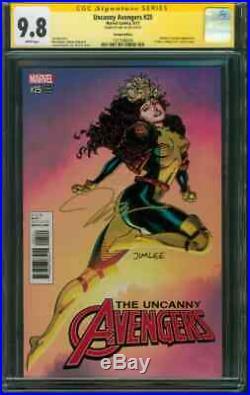 Uncanny Avengers 25 CGC 9.8 SS Jim Lee Rogue X Men Trading Card Variant 2017