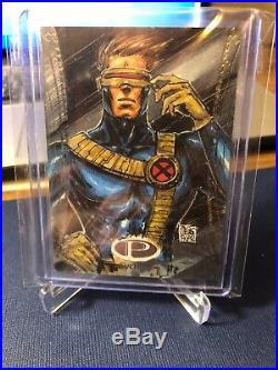Upper Deck 2014 Marvel Premier Sketch Card cyclops acar