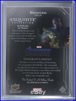 Upper Deck Marvel Avengers Exquisite Josh Brolin SSP #4/5 EBA-JB AUTOGRAPH AUTO