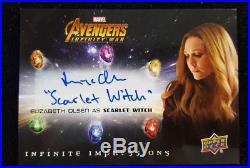 Upper Deck Marvel Avengers Infinity War Inscription Autograph Elizabeth Olsen
