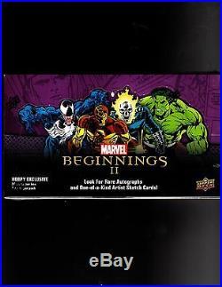 Upper Deck Marvel Beginnings Series 2 Sealed Hobby Box Factory sealled