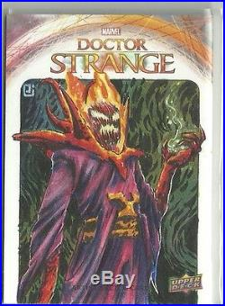 Upper Deck Marvel Doctor Strange Sketch Card Dormammu by Peejay Catacutan