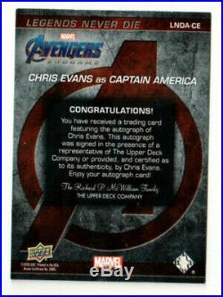Upper Deck Marvel Endgame Legends Never Die LNDA-CE Chris Evans Captain America
