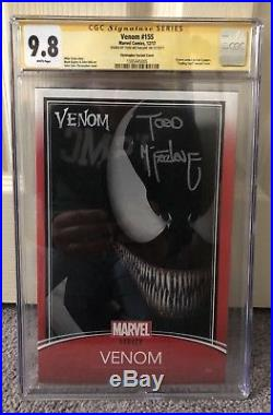 Venom 155 Trading Card Variant Cgc 9.8 Ss Signed By Todd Mcfarlane